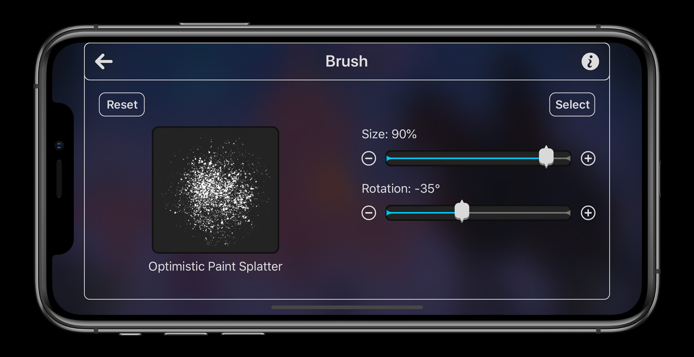 Brush Size and Rotation